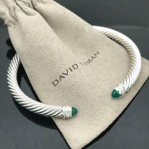 D. Yurman Green Onyx Diamond Cuff Bracelet